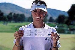 Annika Sörenstam on ainoana naisena pelannut LPGA Tourin kisassa tuloksen 59. &copy Getty Images