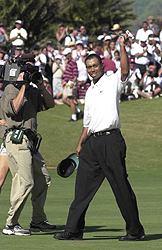 Jatkaako Tiger Woods voittokulkuaan Bay Hillissa? &copy Getty Images