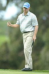 Ben Crane pääsi tuulettamaan montaa uponnutta puttia. &copy Getty Images