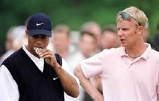 Tiger Woods ja Mikko Ilonen pelasivat samassa ryhmässä vuoden 2001 US Mastersissa &copy Getty Images