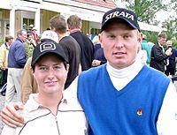 Vuoden 2000 amatöörimestarit Hanna-Leena Salonen ja Toni Karjalainen olivat FGT:n parhaat .