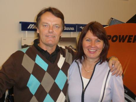 Rolf ja Erja Salonaho jatkavat liiketoimintaansa Golf Point-nimen alla