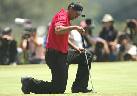 Edellisen kerran Tiger Woods otti Torrey Pinesin griineihin tuntumaa kesäkuussa voittamassaan U.S. Openissa.  &copy Getty Images