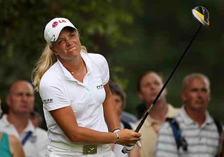 Suzann Pettersenin ilme on mennyt kovin usein totiseksi kilpailujen loppuvaiheilla kaudella 2008 &copy Getty Images
