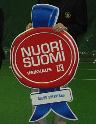 Oulun Golfkerho sai ansaittua tunnustusta juniorityöstään.