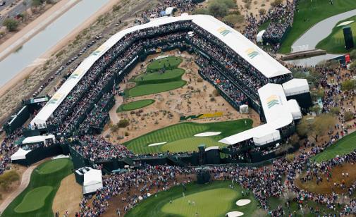 Scottsdalen 16 on hornankattila saa pelaajien kämmenet hikoilemaan. Kuva: Getty Images.