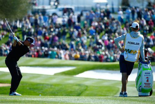 Rickie Fowler lähtee isona voittajasuosikkina Phoenix Openin jatkokierroksille. Kuva: Getty Images