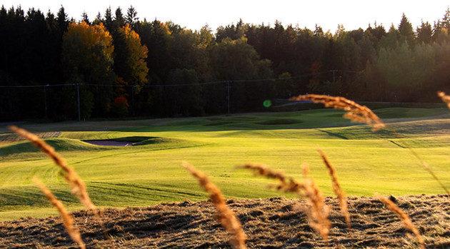 Lassi Pekka Tilanderin suunnittelema Aulangon Eversti-kenttä toimii ESGA:n joukkuemestaruuskisojen päänäyttämönä. Kuva: Aulanko Golf