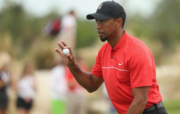 Tiger Woods käytti Bridgestonen B330-S -palloa jo paluuturnauksessaan Bahamalla. Kuva: Getty Images.