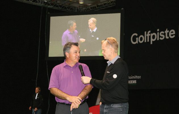 Golfpisteen osaston avauspäivän tähtivieraisiin kuului Teemu Tyryn jututtama huippuvalmentaja Brian Manzella.