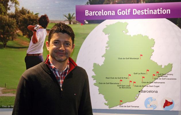 Katalonian golf on messuilla vahvasti läsnä. Jordi Mas Ortega markkinoi Barcelonan alueen golfmahdollisuuksia.