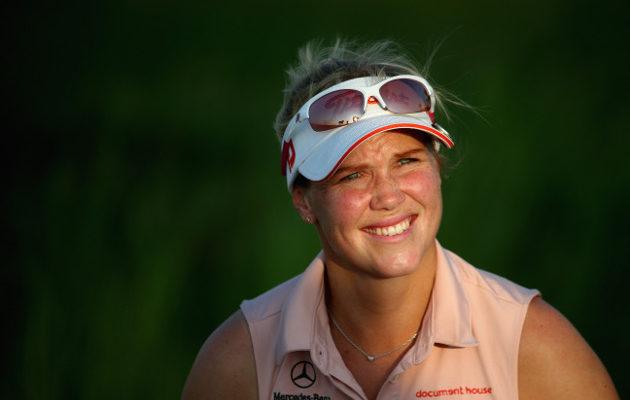 Minea Blomqvist-Kakko jäi vaille major-paikkaa myös Englannin karsintaturnauksessa. Kuva: Getty Images
