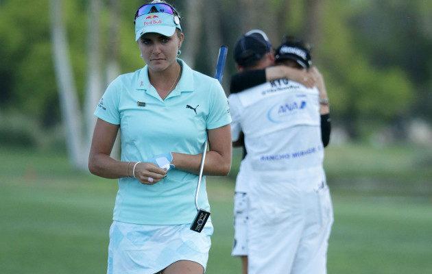 Lexi Thompson koki kovan kohtalon Kalifornian Rancho Miragessa pelatussa major-turnauksessa. Kuva: Getty Images