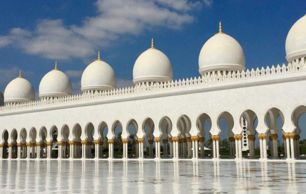 Sheikki Zayedin moskeija kannatti bongata.