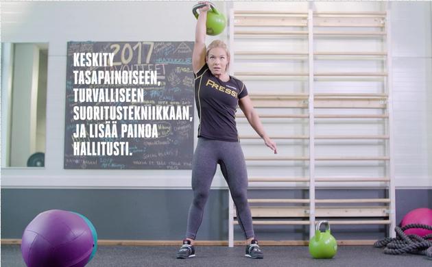 Fressin Jessica Reiman toimii 100 päivää – 100 metriä -projektin fysiikkavalmentajana.