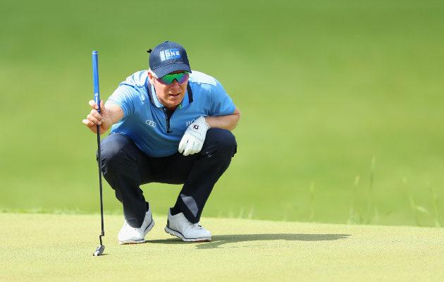Australian vanhimman  golfklubin, The Australian Golf Clubin viheriöiden kallistukset olivat avauspäivänä Mikko Ilosella hallussa. Kuva: Getty Images
