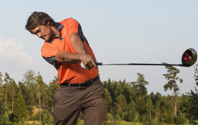 Teemu Selänne pääsee näyttämään taitojaan Senior Tour -tähtien sekaan ensi viikolla Linna Golfissa. Kuva Vesa Koivunen.