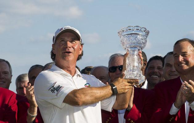 Scott McCarron äimistyi itsekin voitostaan Baltimoren major-turnauksessa. Kuva: Golf Digest