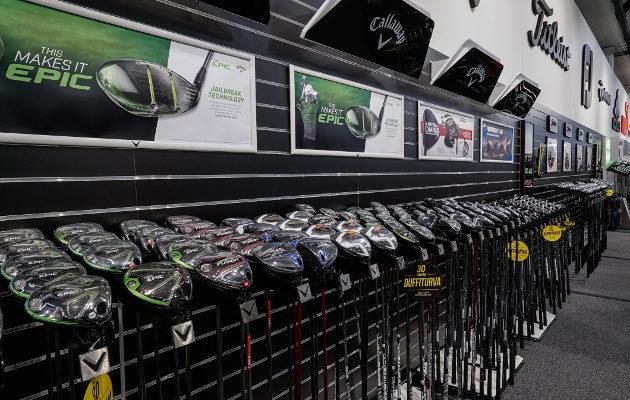 Callawayn Epic-sarjan mailat ovat  kuuluneet tällä kaudella monen golfliikkeen menestystuotteisiin. Kuva: Golf Center Oy