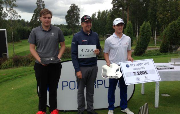 Sami Välimäki, Christian GlØet ja Victor Østerby muodostivat Finnish Openin kärkikolmikon.