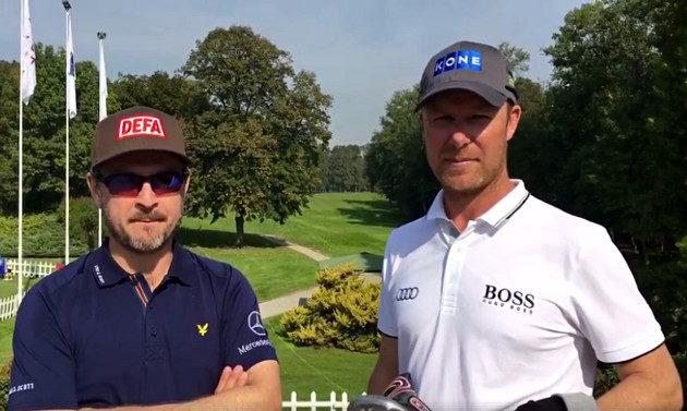 Mikko Korhonen ja Mikko Ilonen ottavat keskiviikkona tuntumaa Parco di Realen kenttään yhteisellä harjoituskierroksella.