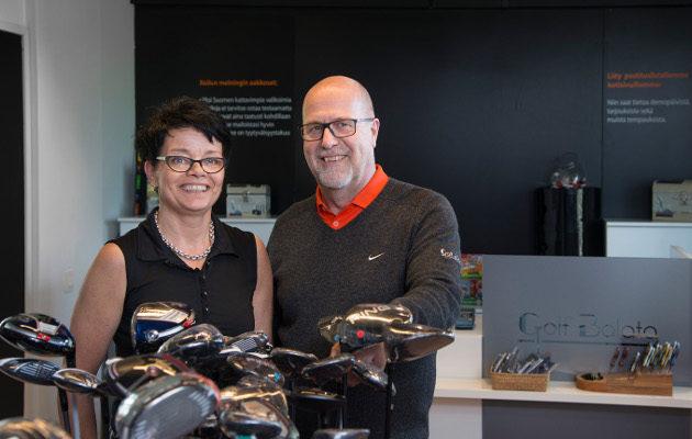 Golf Balata on Maarit ja Petri Pelttarille kuin oma lapsi.