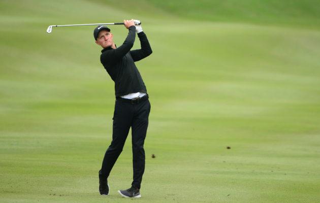 Ruotsin suurin golflupaus Marcus Kinhult on mukana Hongkongin turnauksen kärkikamppailussa. Kuva: Getty Images