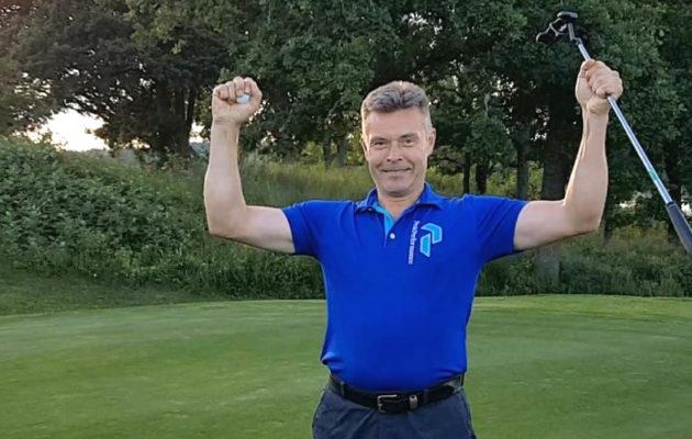 Timo Seilo teki viime kesänä jotain poikkeuksellista värmlantilaisella golfkentällä. Kuva: Olle Andersson