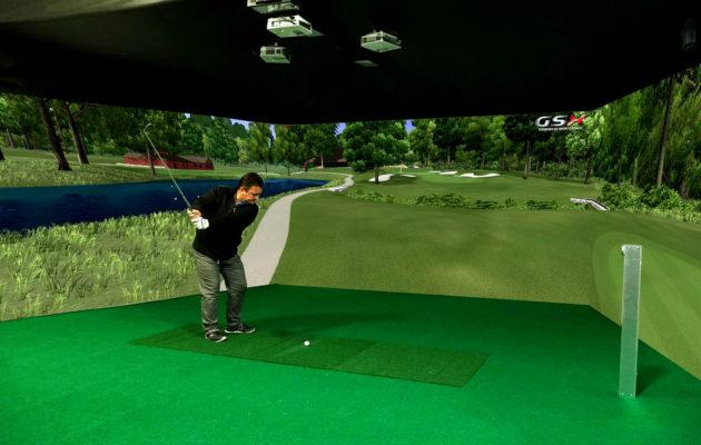 Golfsimulaattorit pyrkivät tarjoamaan pelaamisen lisäksi myös varsin tarkkaa dataa pallon lennosta, kaaresta ja kierteistä. Kuva: Sports Coach