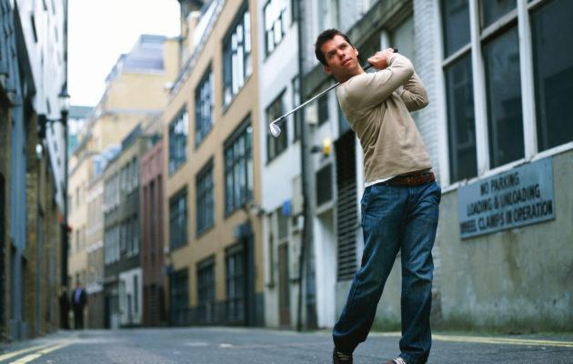 Paul Casey on löytänyt sopivan katugolfväylän Lontoossa. Kuva: Getty Images