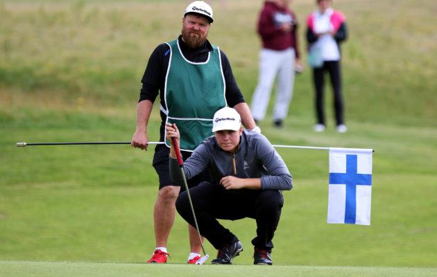 Sami Välimäki oli vuosi sitten kisan paras suomalainen. Saavutuksen uusiminen tänä vuonna toisin pelioikeuden European Tourin -osakilpailuun. Kuva Tomi Natri