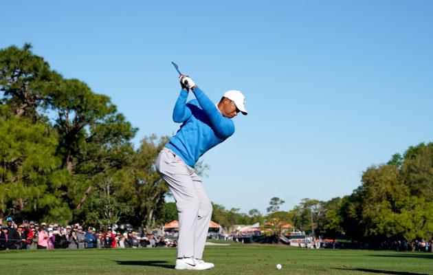 Tiger Woods tulee saamaan Copperhead Coursella lauantaina todella äänekkään yleisöjoukon peräänsä: Kuva: Getty Images.