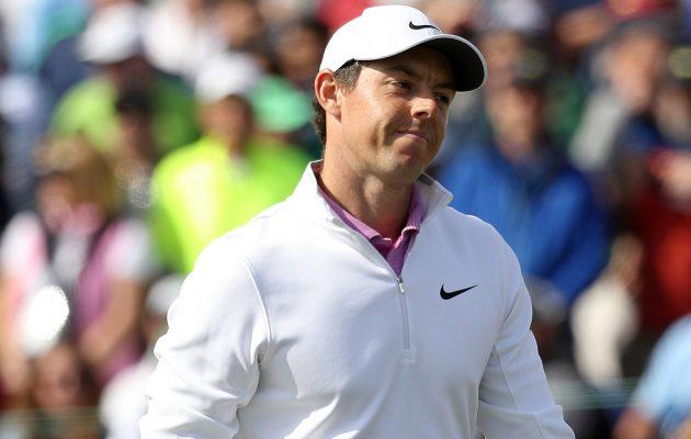 Rory McIlroy on katkerista viimeisten kierrosen tappioista huolimatta noussut maailmanlistalla kuluvan vuoden aikana kuusi sijaa viidenneksi. Kuva:Getty Images