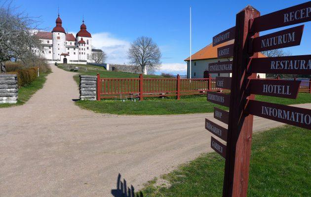 Läckön keskiaikainen linna Lidköpingin lähellä.