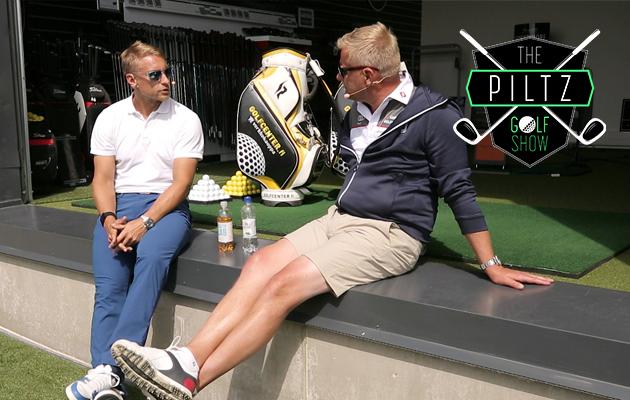 Valtteri Filppula (vas.) on kotimaisista NHL-kiekkoilijoista yksi ahkerimmmista golfareista. Oikealla Mika Piltz.