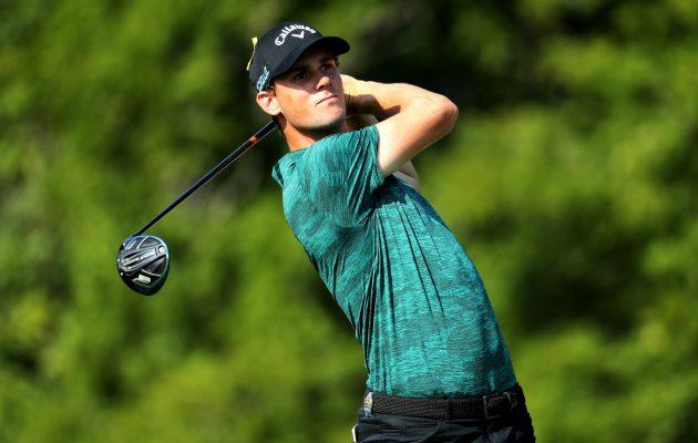 Thomas Pieters kamppailee PGA Championshipissä parhaana eurooppalaisena kärjen  tuntumassa. Myös muita kaivataan talkoisiin kolmantena pelipäivänä. Kuva: Getty Images