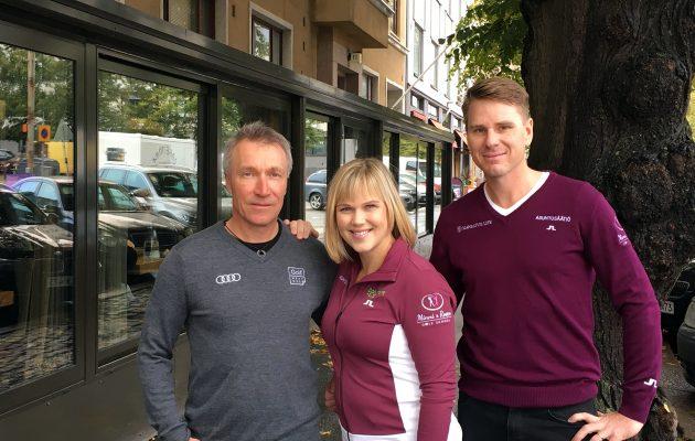 Timo Rauhala (vas.), Minea Blomqvist-Kakko ja Roope Kakko tuovat paljon osaamista ja kokemusta valmennustoimintaan Pickalassa.