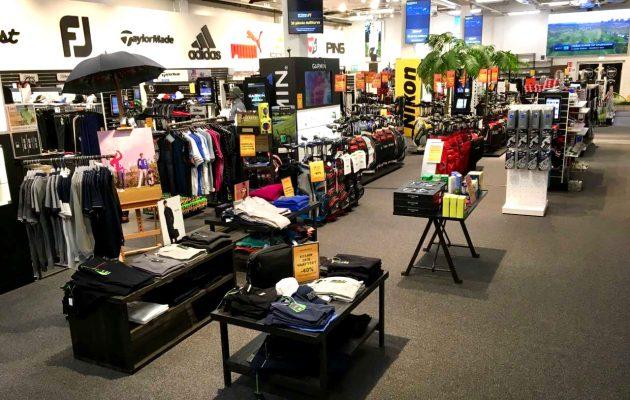 Golf Centerin myymälätoiminta on keskittynyt Tapiolan kentän yhteydessä olevaan liikkeeseen. Kuva: Golf Center