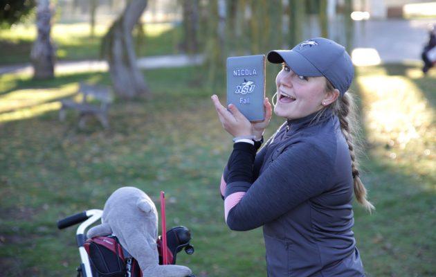 Nova Southeastern Universityn college-golfjoukkueessa pelaava Nicola Fall jäi täpärästi uusinnan ulkopuolelle. Kuva: Raul Fall