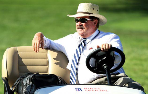 PGA Tourin sääntökomitean varapuheenjohtaja Slugger White ilmoitti PGA Tourin ottavan suunta-apuun liittyvän sääntötarkennuksen välittömästi käyttöön. Kuva: Getty Images