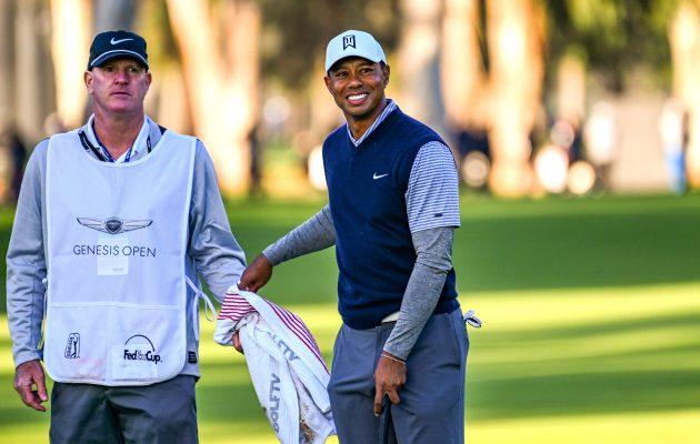 Kolmannen kierroksen alussa nähtiin välähdys vanhaa kunnon Tiger Woodsia. Kuva: Getty Images