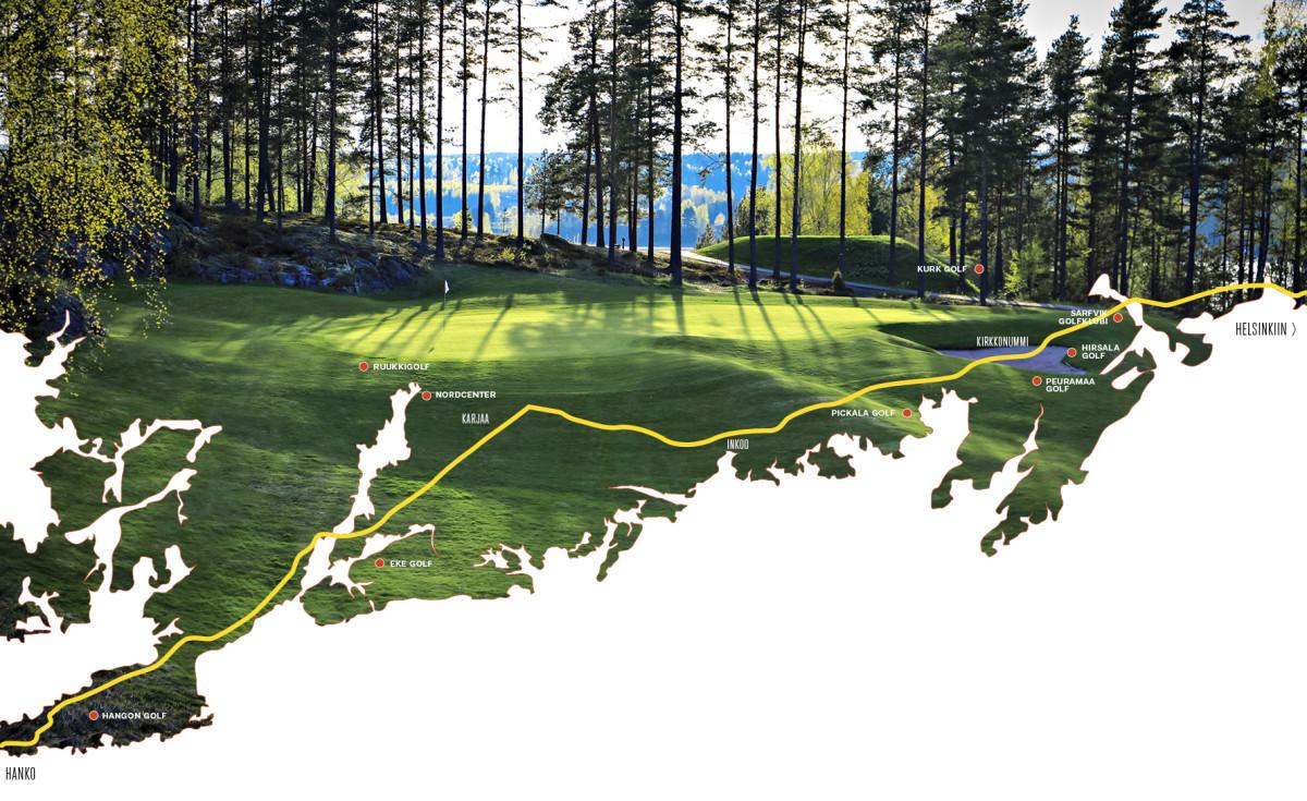 Nordcenterin Fream-kentän maisemat lukeutuvat Suomen kauneimpiin.