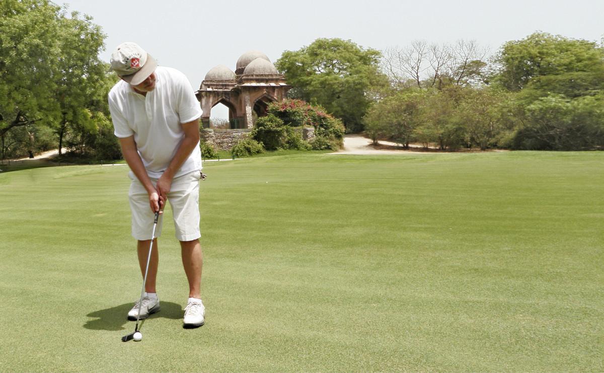Visa Pekkarisen Intian bongaus perinteisellä Delhi Golf Clubilla toukokuussa 2010.