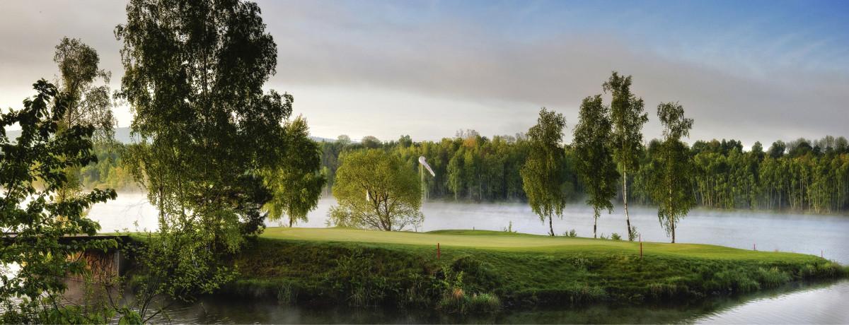 Golf Park Plzenin väylä 11 (par 3) on yksi Tsekin hienoimmista rei'istä.