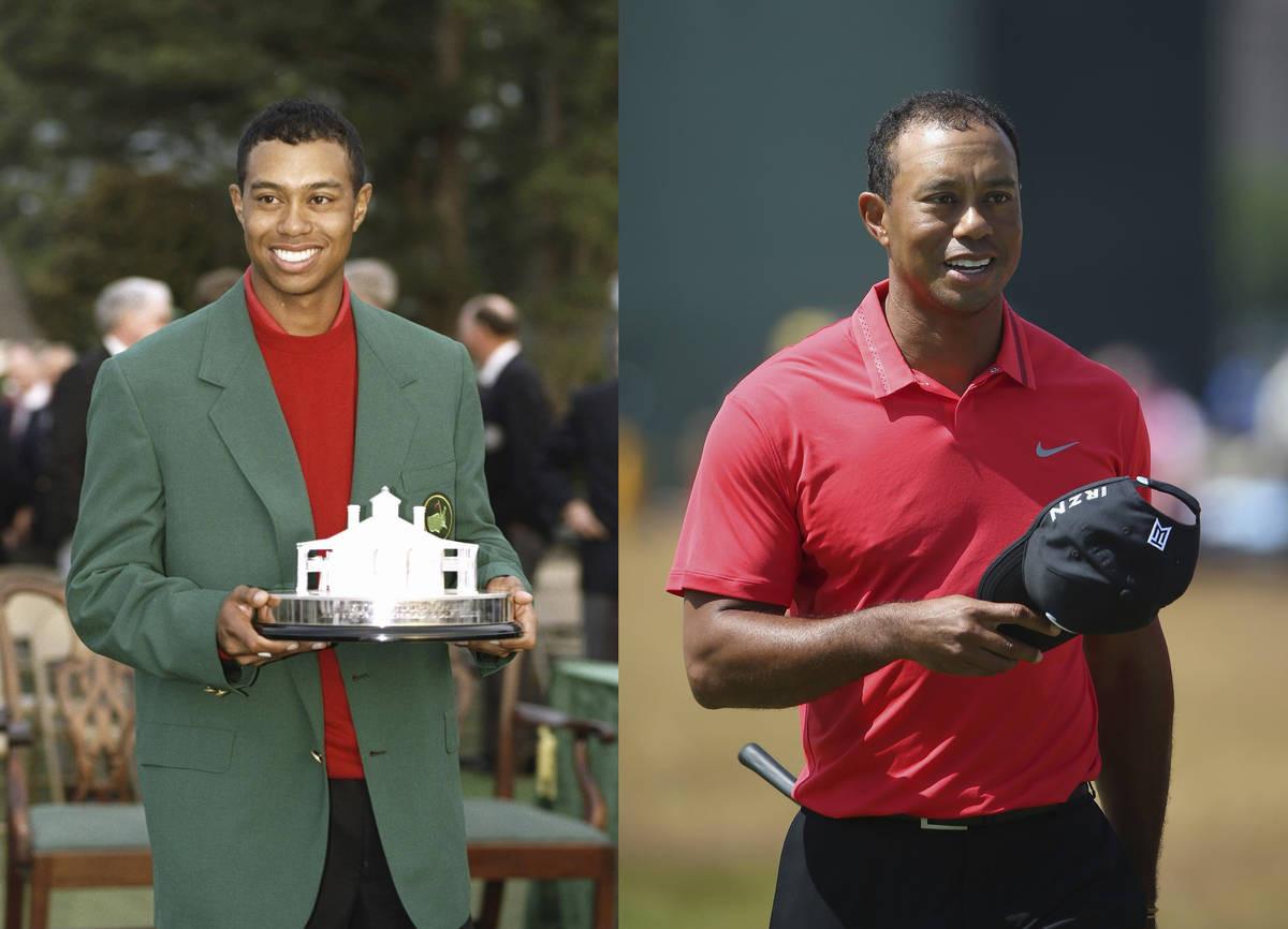 Tiger 1997 Mastersissa ja 2014 The Open Championshipissa.