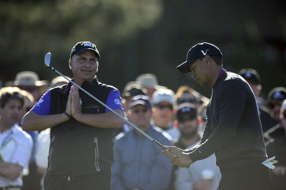 Tiger Woods voitti Rocco Mediaten 91. reiällä vuolla 1998. Kuva vuodelta 2011 Torrey Pinesista.