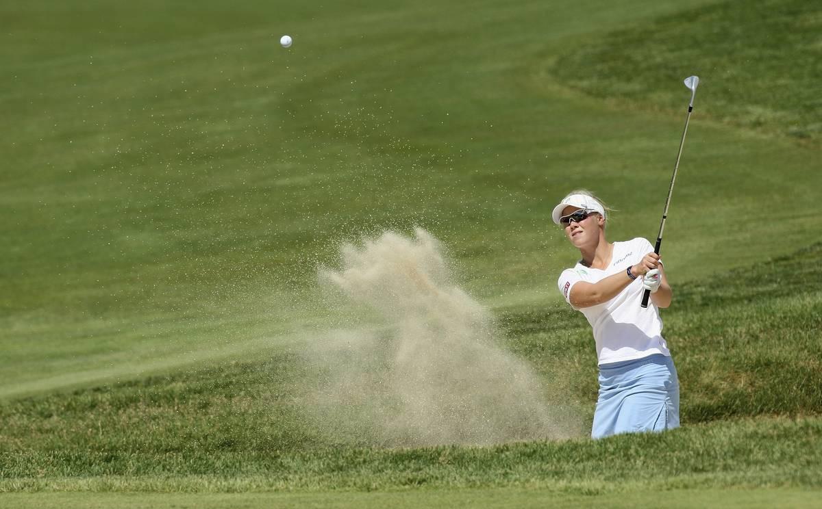 Minea Blomqvist-Kakko on osallistunut U.S. Openiin kolme kertaa. Kuva vuodelta 2008.