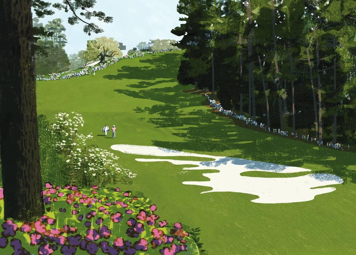 Augusta Nationalissa kaikki on suurta: 10. väylä, 453 metriä, korkeusero 90 metriä, väyläbunkkeri on 51 metriä pitkä.
