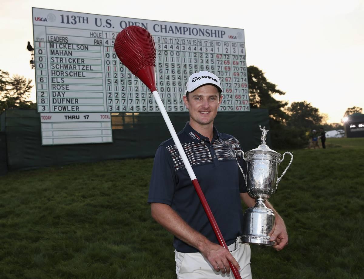 Major-voittaja Justin Rose.