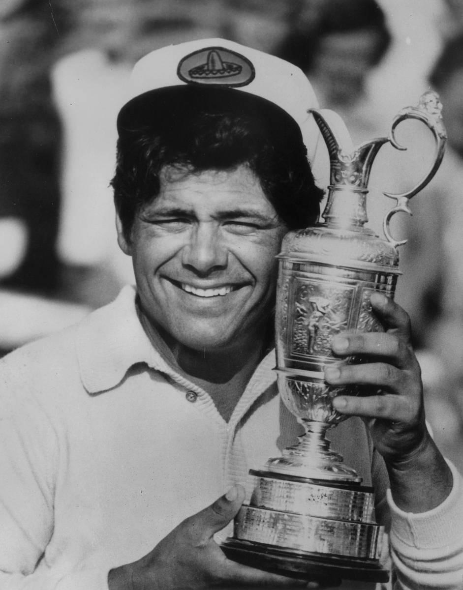 Heinäkuussa 1972 Trevino juhli British Openin voittoa Muirfieldissa Skotlannissa.